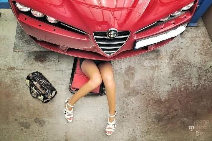 Alfa 159 zena mehanicar