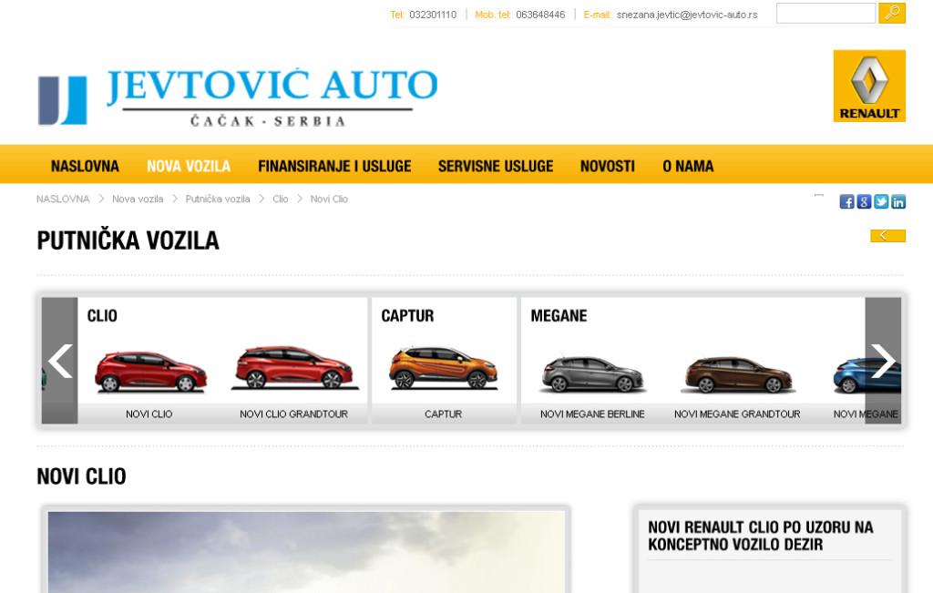 Jevtovic Auto sajt
